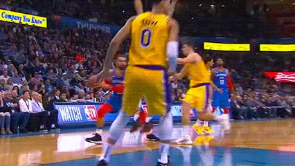 Watch and share Steven Adams — Oklahoma City Thunder GIFs by Off-Hand on Gfycat