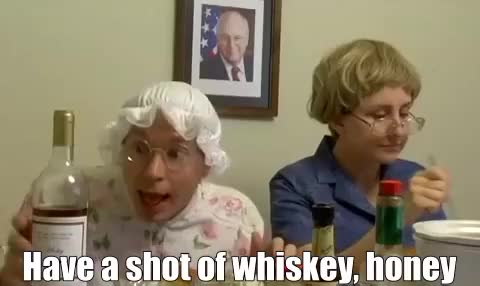 Watch and share Drinking GIFs and Grandma GIFs by Reactions on Gfycat
