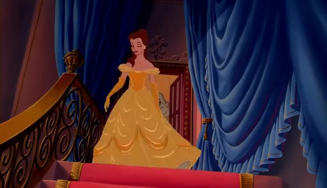 beauty and the beast, belle, belle GIFs