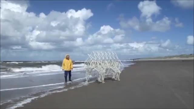 Watch and share Strandbeest GIFs and Theo Jansen GIFs by samthegr8 on Gfycat