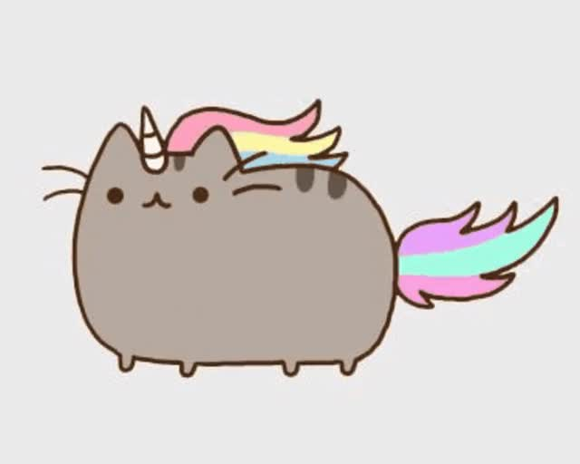 Watch and share Pusheen GIFs and Unicorn GIFs on Gfycat