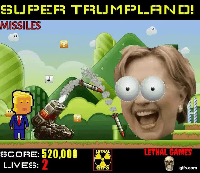 Watch and share Hillary Clinton GIFs and President Trump GIFs by Mick Lethal on Gfycat