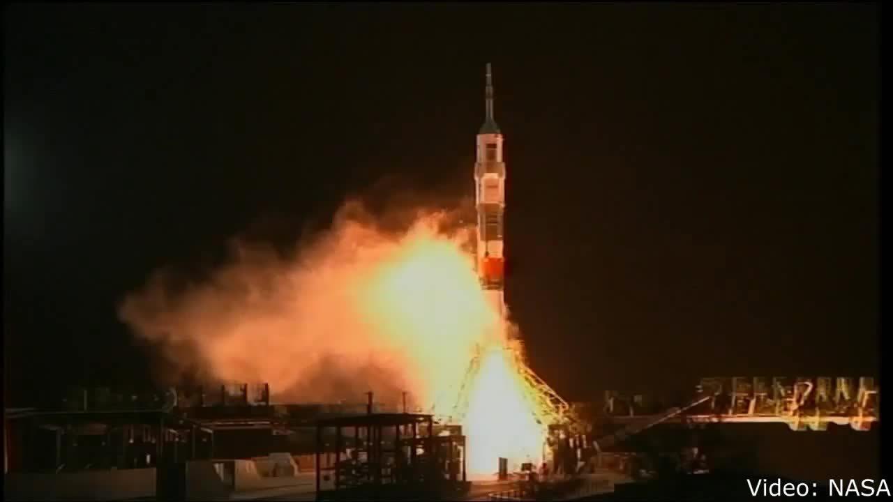 MissilesAndRockets, missilesandrockets, Soyuz TMA-15M launch from Baikonur Cosmodrome to ISS. 23 November 2014. (reddit) GIFs