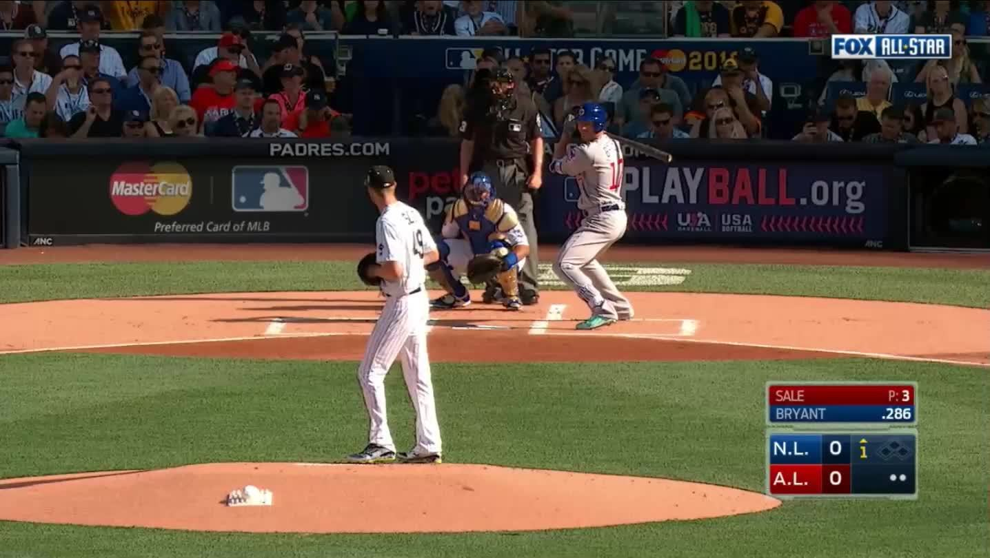 Padres, baseball, monsterdongs, Kris Bryant shows Chris Sale his dong GIFs