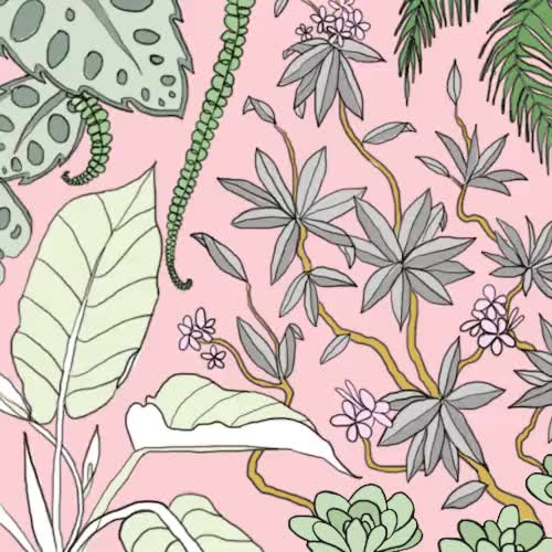 Watch this trending GIF on Gfycat. Discover more artists on tumblr, beachy, breezy, creepy cute, dream, floral, garden, house of joy, illustration, kawaii, loop, miami, pale, palm trees, paradise, pastel, pastel goth, pattern, philodendron, pink and green, plants, plumeria, pretty, spring, stef shank, stefanie shank, summer breeze, tropical GIFs on Gfycat