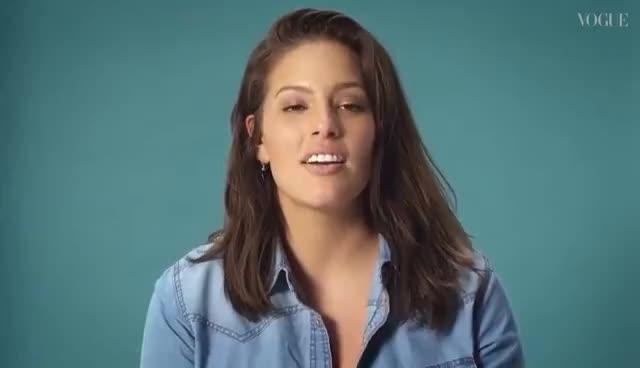 Ashley Graham, Ashley Graham on Internet Comments & Positive Body Image | Vogue Asks | Episode 1 | British Vogue GIFs