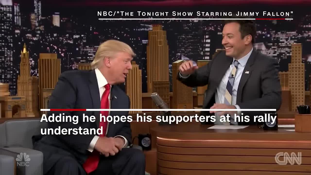 2016-elections, CNN, CNN Newsroom, CNN TV, News, News & Politics, donald trump, jimmy fallon, Donald Trump lets Jimmy Fallon mess up his hair GIFs