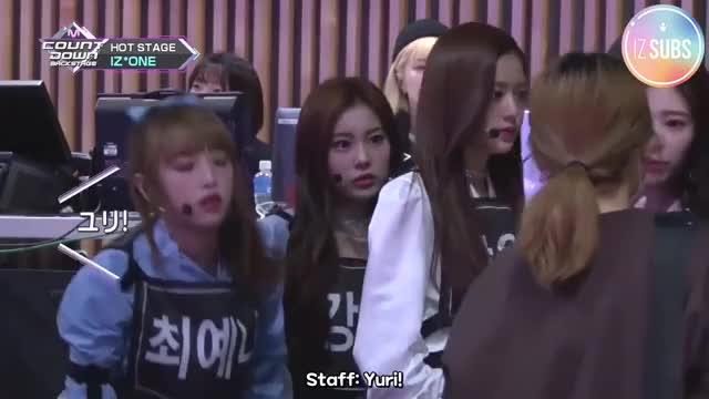 ENG SUB] 181202 Mnet Japan M COUNTDOWN Backstage (IZ*ONE