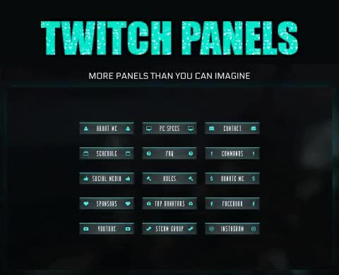 Twitch Premium Green Panels GIF by TwitchStorm com