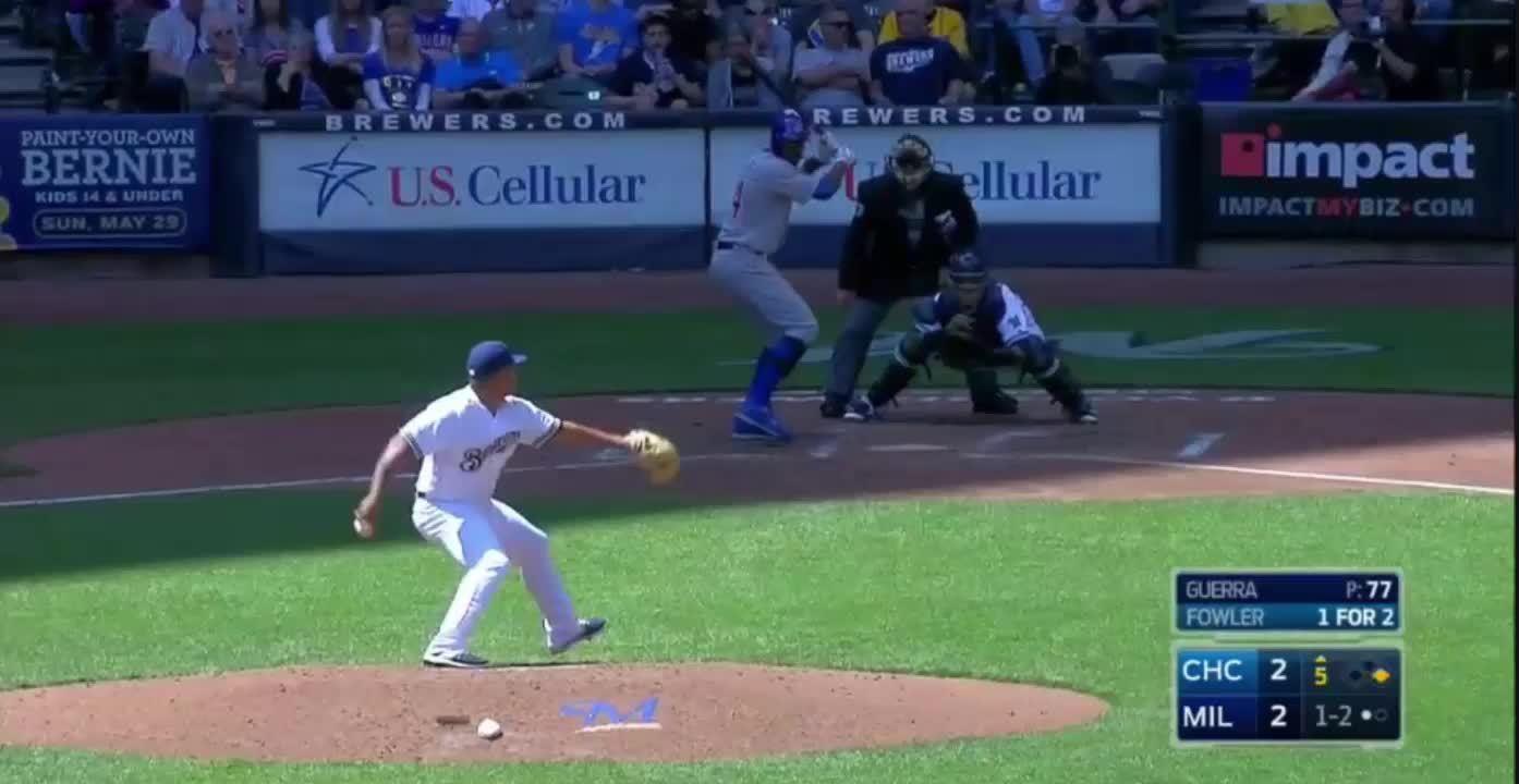 baseball, brewers, [GIF] 30 y/o Junior Guerra gets 11 Ks in his 4th career start (reddit) GIFs