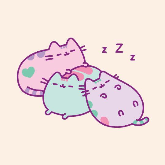 asleep, bed, cat, cute, kitty, pusheen, sleep, sleepy, tired, zzz, Sleepy Pusheen GIFs