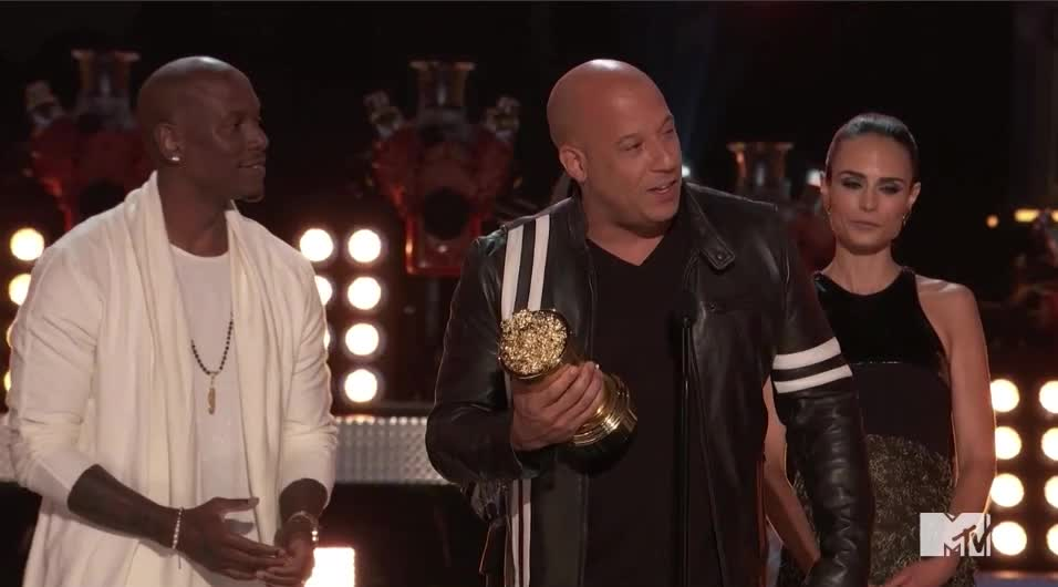 mtv awards, mtv awards 2017, mtvawards, mtvawards2017, the fast & furious, the fast and the furious, vin diesel, Generation Award goes to Vin Diesel GIFs