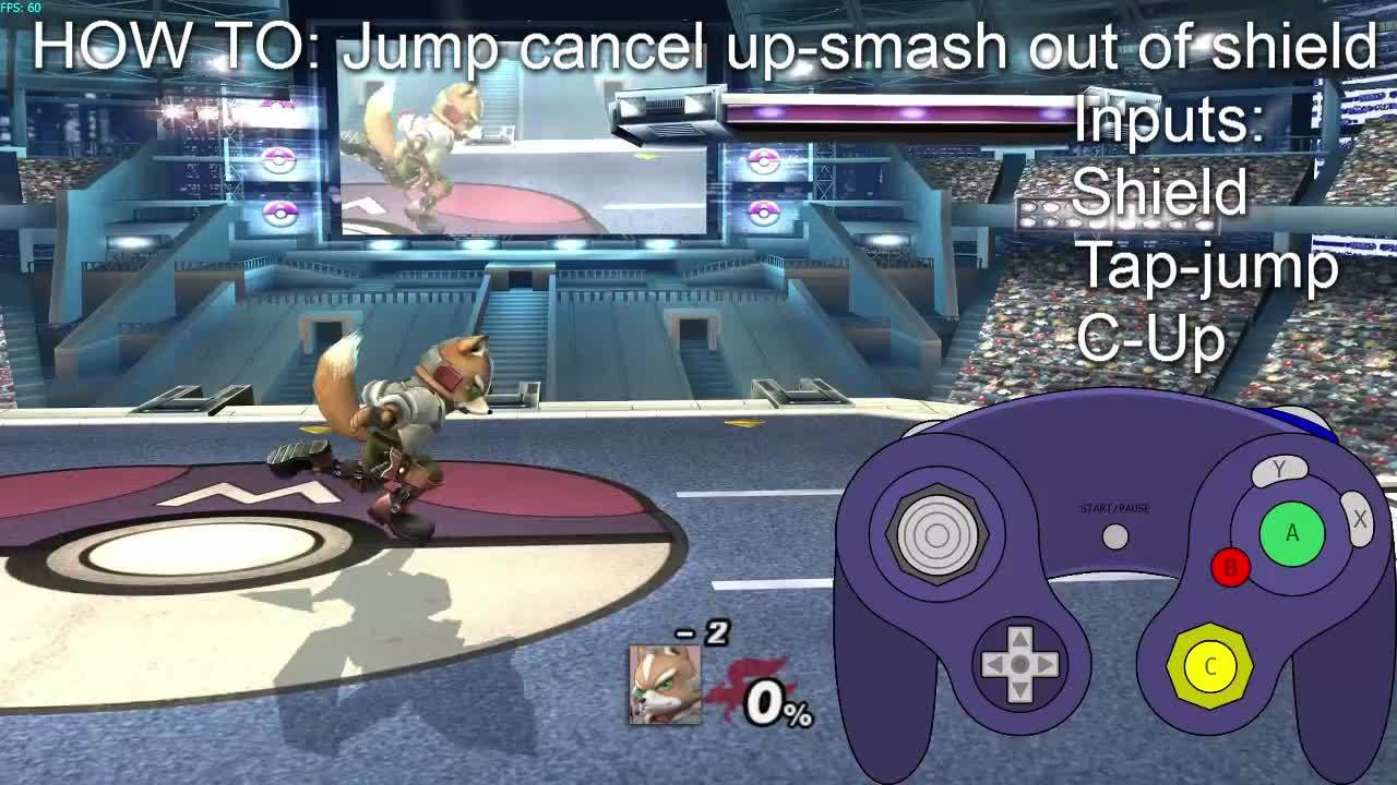 crazyhand, smashbros, HOW TO: Jump Cancel up-smash out of shield GIFs
