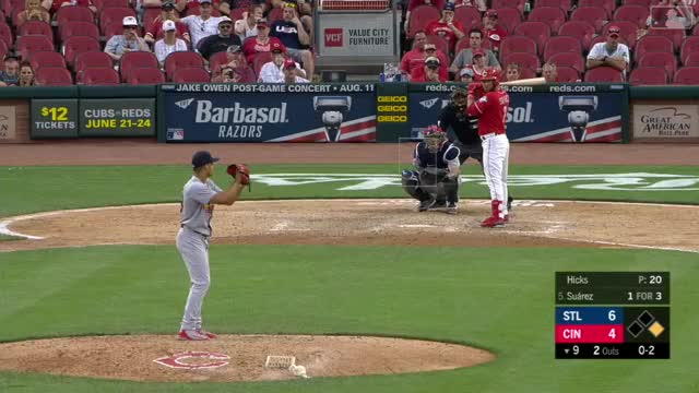 Watch Hicks K's Suarez, notches save GIF by @drich93 on Gfycat. Discover more Cincinnati Reds, St.Louis Cardinals, baseball GIFs on Gfycat