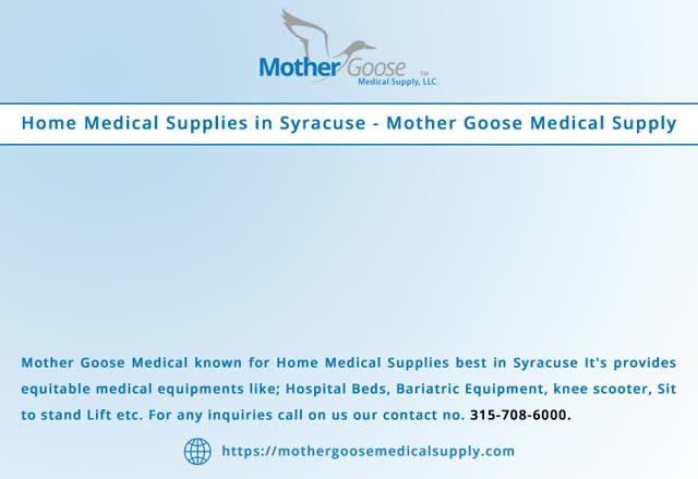 Home Medical Supplies In Syracuse GIF by Mother Goose