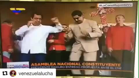 Watch and share President Maduro Dances On Tv While People Riot On Street GIFs on Gfycat
