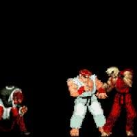 Watch and share Orochi Iori & Violent Ken Vs Ryu GIFs on Gfycat