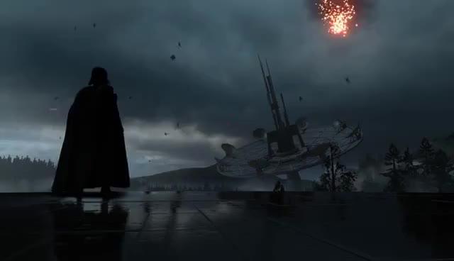 Watch and share Darth Vader Endor Rain Wallpaper Dreamscene GIFs on Gfycat
