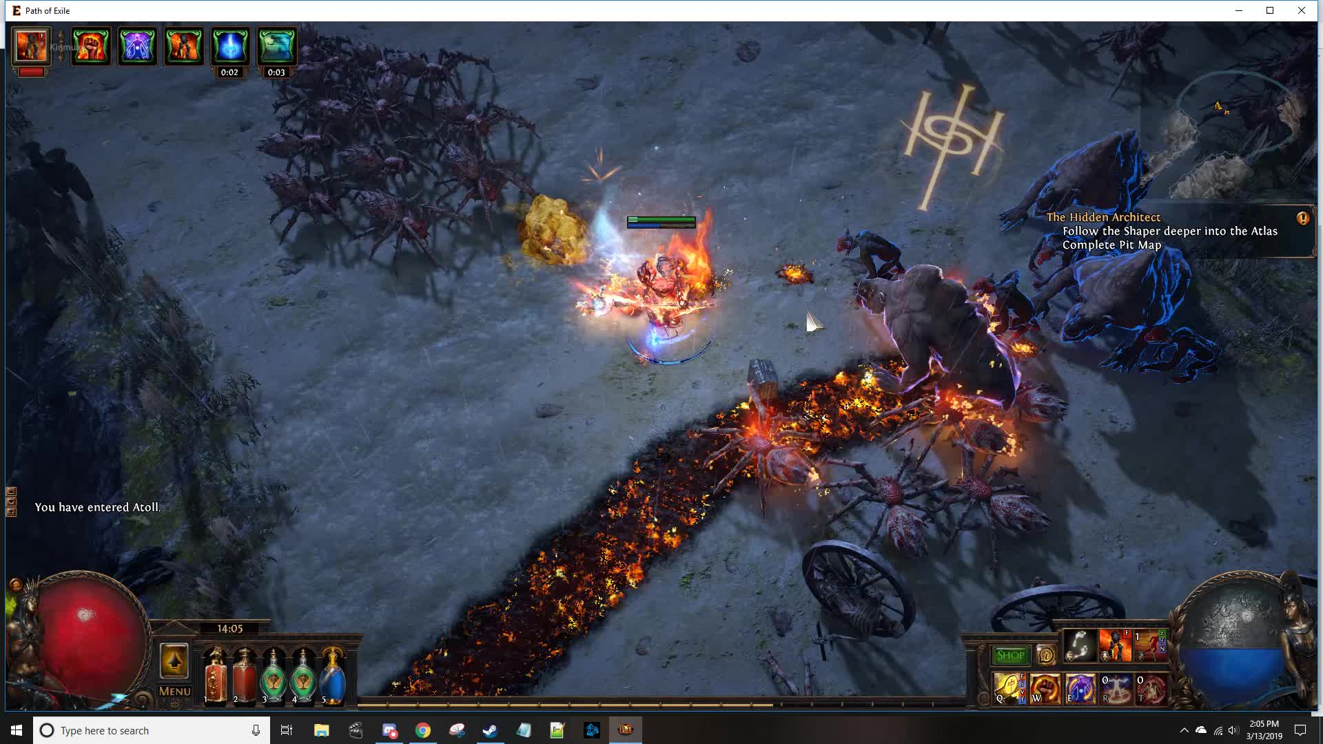 holy flame totem, path of exile, pathofexile, poe, example1 GIFs