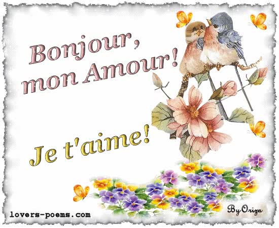 Watch and share Bonjour Mon Amour animated stickers on Gfycat