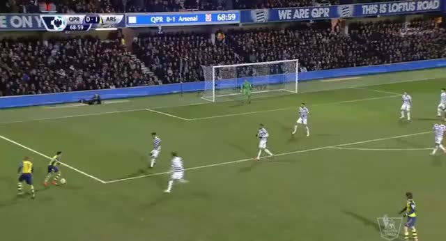 Watch Amazing goal by Alexis against QPR (reddit) GIF on Gfycat. Discover more gunners GIFs on Gfycat