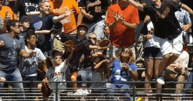 nonononoyes, Woman's beer cup obliterated by home run ball in last night's Pirates/Giants game (reddit) GIFs