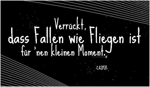 Watch this GIF on Gfycat. Discover more Benjamin Griffey, Lyrics, cas, casper, casper quote, casper zitat, fliegen, so perfekt GIFs on Gfycat