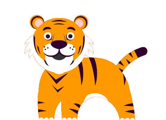 animal, cute, funny, hi, loop, sticker, stickers, tiger, Happy Tiger GIFs
