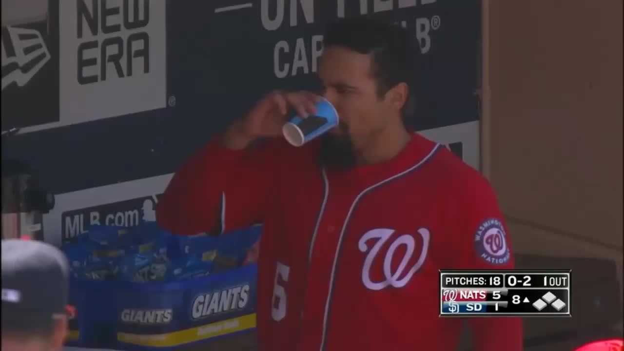 nationals, washington nationals, anthony rendon spittake laugh GIFs