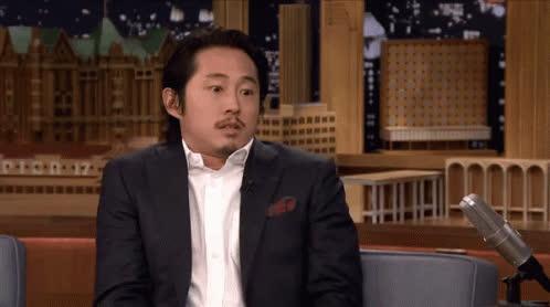 Steven Yeun, shrug idk GIFs