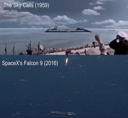 Watch falcon sea landing GIF on Gfycat. Discover more related GIFs on Gfycat