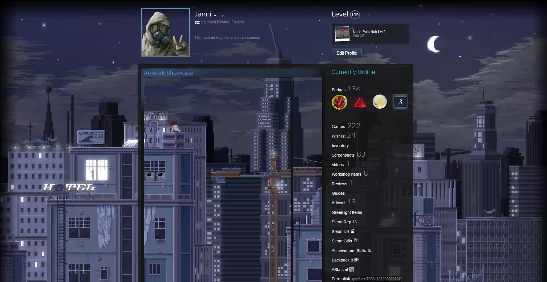 SteamArtworkProfiles, steamartworkprofiles, I thought my profile could need a refreshing new thing or two, so I modified it by a little. Big City Life, now with more flashing lights (reddit) GIFs
