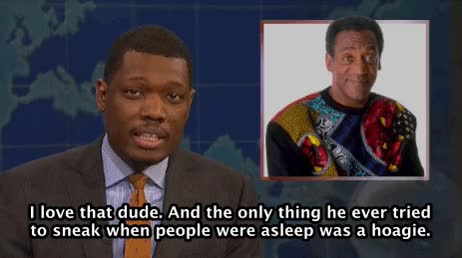 Watch and share Michael Che GIFs and Bill Cosby GIFs on Gfycat
