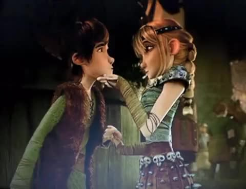 Watch Hiccup and Astrid Kiss GIF on Gfycat. Discover more related GIFs on Gfycat