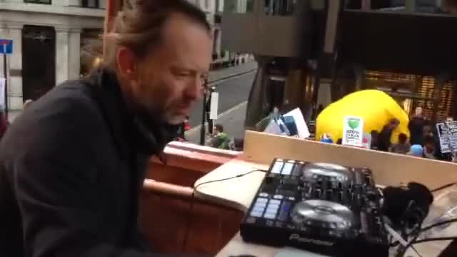 Watch and share Radiohead's Thom Yorke DJs At London's Climate March GIFs on Gfycat