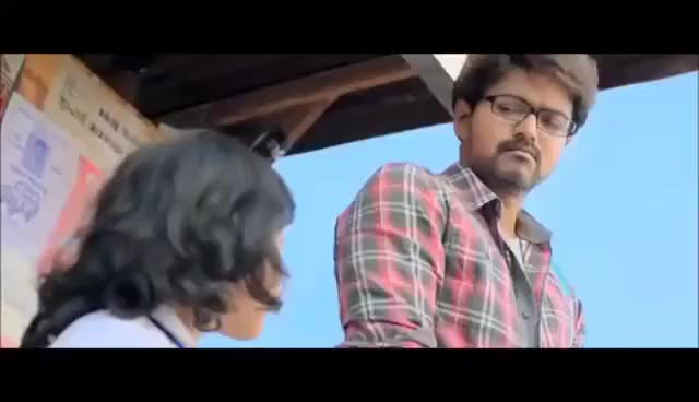Watch and share Theri Vijay Nainika Cute Scene GIFs on Gfycat