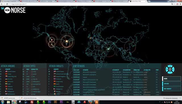 Norse Hacking Attack Map Real Time Worlwide Hack Attack GIFs