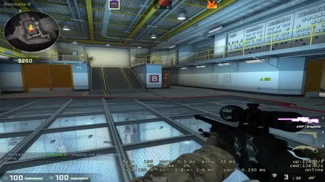 Watch and share B Site To Ramp - Nuke Insane No Scope GIFs on Gfycat