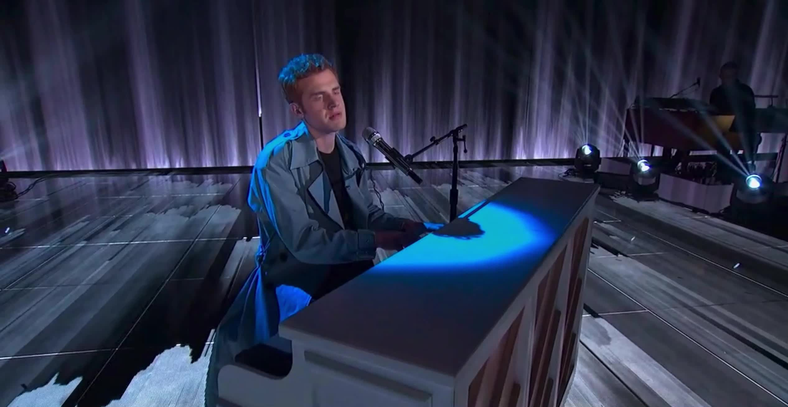 american idol, american idol season 17, americanidol, jeremiah lloyd harmon, katy perry, lionel richie, luke bryan, ryan seacrest, season 17, singing, American Idol Jeremiah on the Piano GIFs