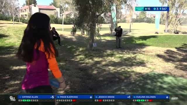 Watch 2019 LVC | Round 3| Paige Bjerkaas hole 15 drive GIF by Benn Wineka UWDG (@bennwineka) on Gfycat. Discover more Sports, disc golf, disc golf 2019, jomez disc golf, jomez productions, jomezpro GIFs on Gfycat