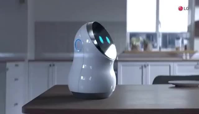 Watch and share LG Robots At CES 2017 - Hub Robot, Airport Guide Robot, Airport Cleaning Robot And Lawn Mowing Robot GIFs on Gfycat