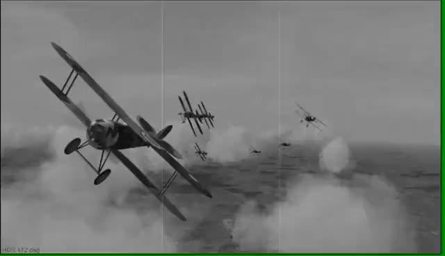 1917 World War One Dogfight. GIFs