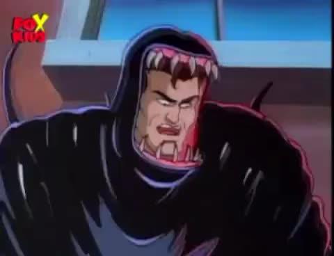 eddie brock, venom, Spiderman the Animated Series -  SPIDERMAN vs VENOM GIFs