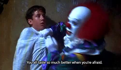 Watch and share Just Like The Movie GIFs and Pennywise The Clown GIFs on Gfycat