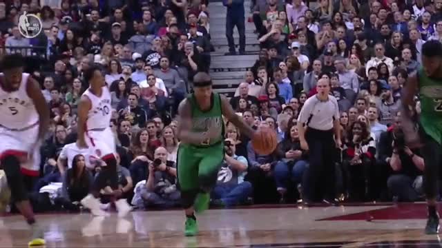 DeMarre Carroll commits the flagrant on IT and Jae Crowder takes exception