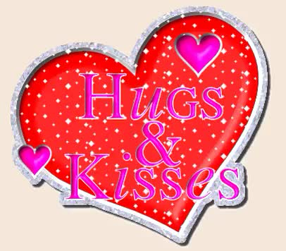 Watch and share Hugs And Kisses Heart Graphic animated stickers on Gfycat