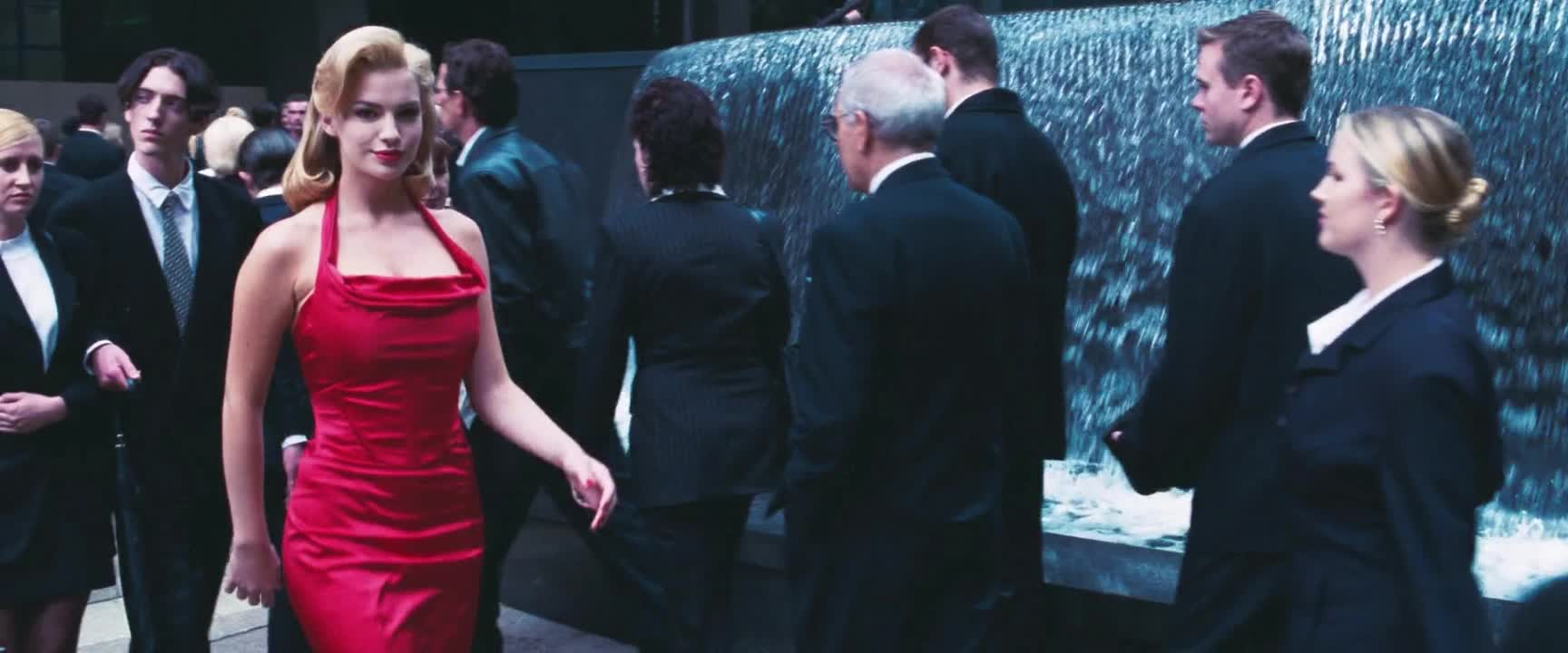 The Matrix - Staring at The woman in the red dress GIFs