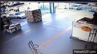 Watch and share Horrible Forklift Accident! GIFs on Gfycat