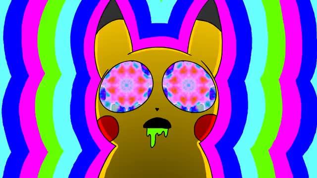 Watch and share Pikachu On Acid GIFs and The Sizlacks GIFs on Gfycat