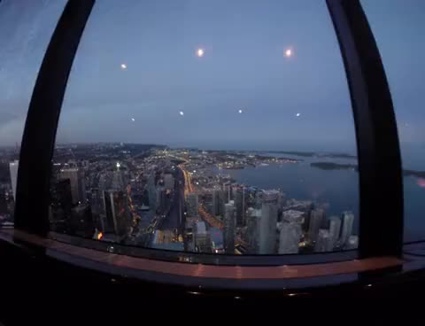 Watch and share CN Tower 360 Restaurant View During Dinner GIFs on Gfycat